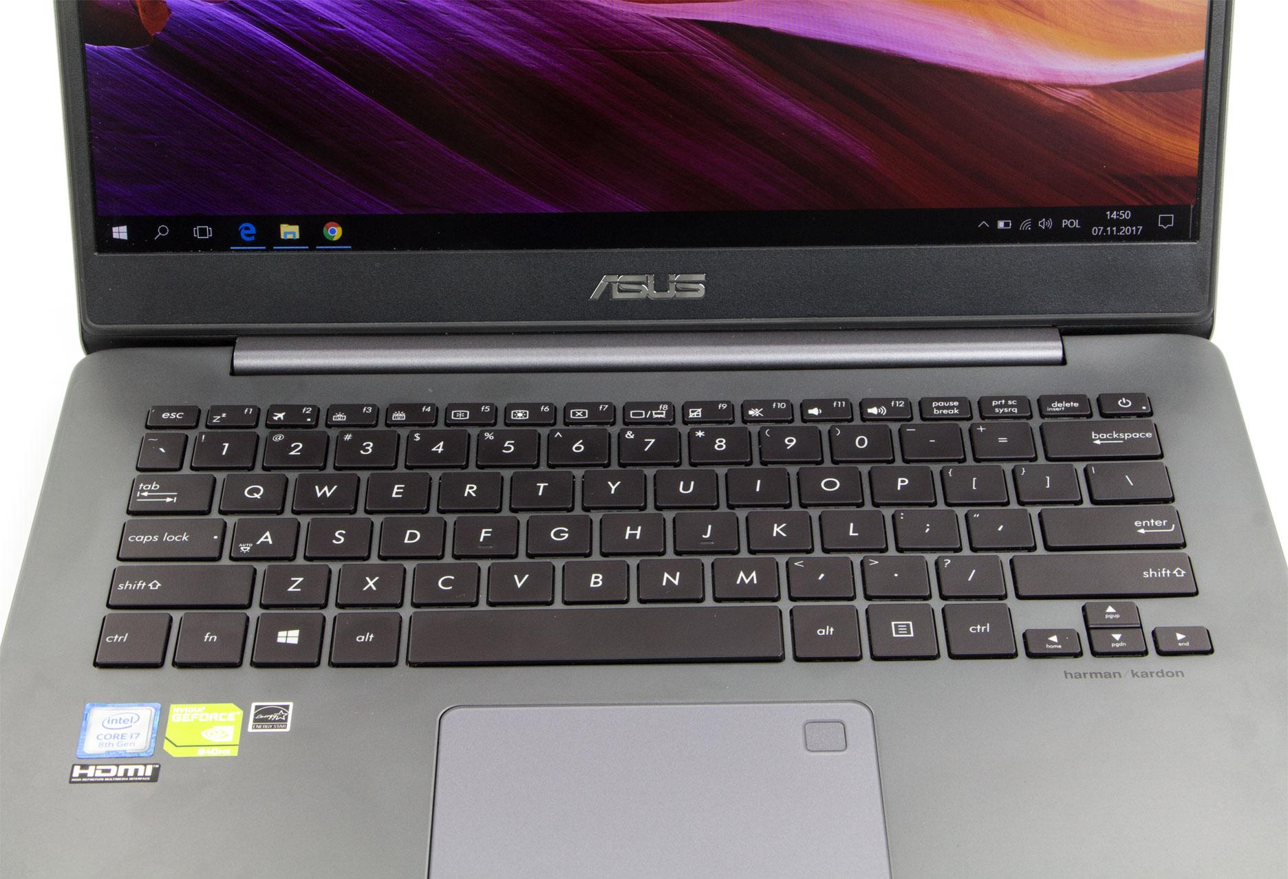 Asus Zenbook UX430U klawiatura
