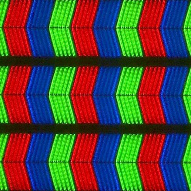 LG 43LJ594V - struktura subpixeli