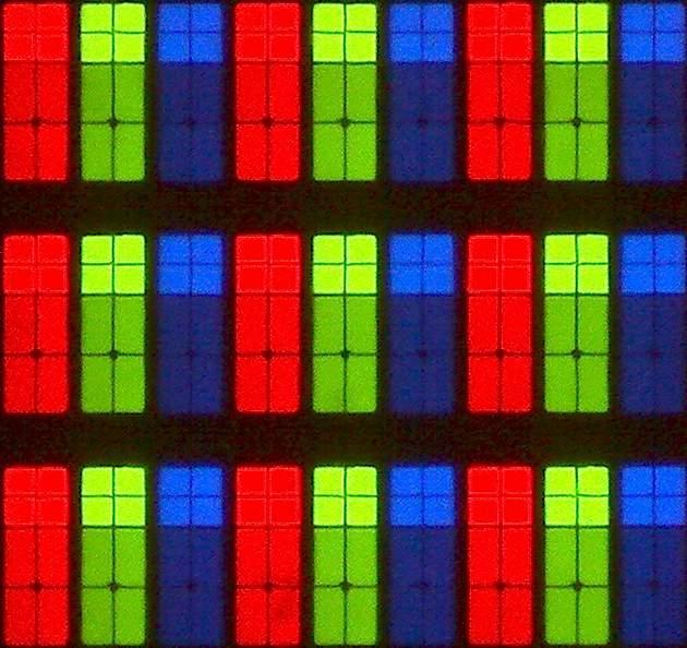 Samsung 43M5602 - struktura subpixeli