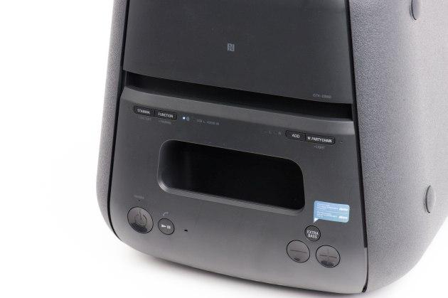 Sony GTK-XB60 panel sterowania