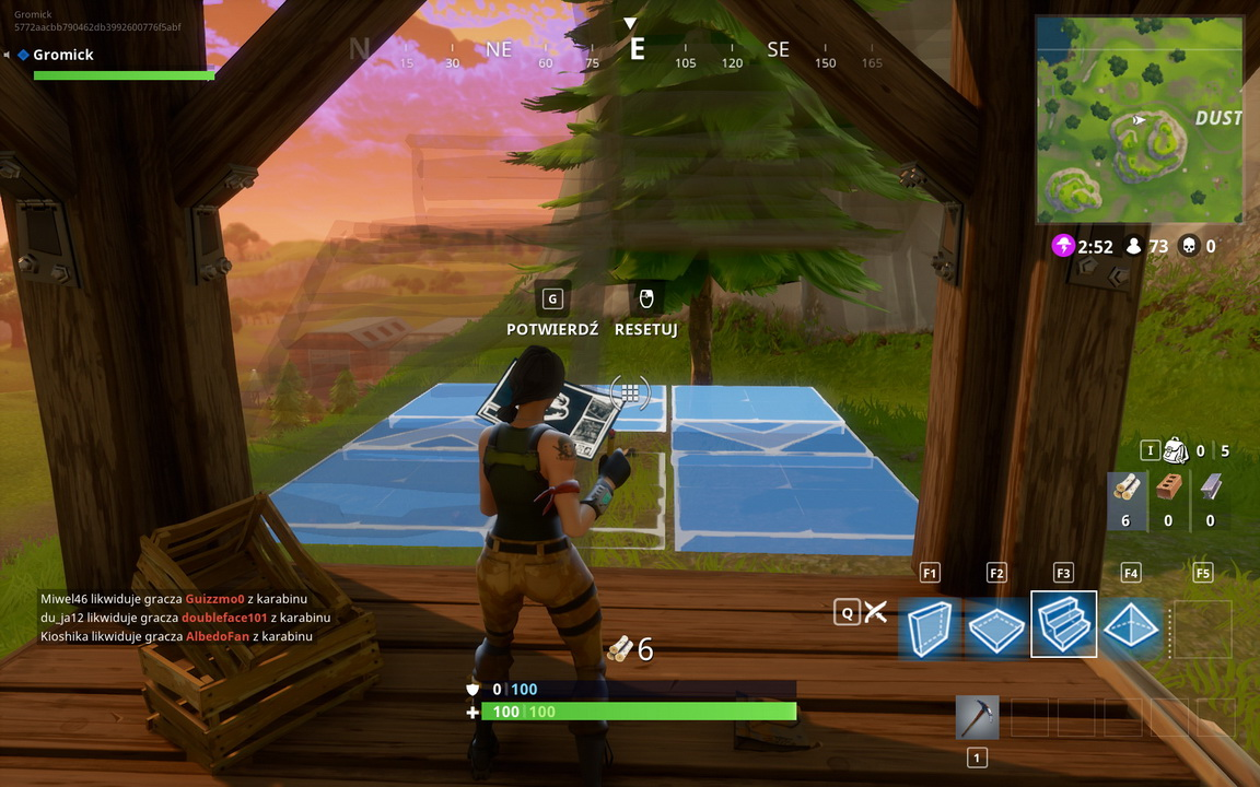 Fortnite: Battle Royale - budowanie ze schematu