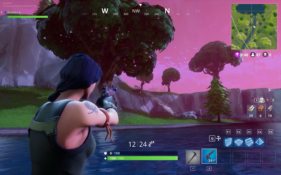 Fortnite: Battle Royale - ostrożne lustrowanie terenu