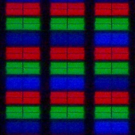 TCL 49C7006 - struktura subpixeli