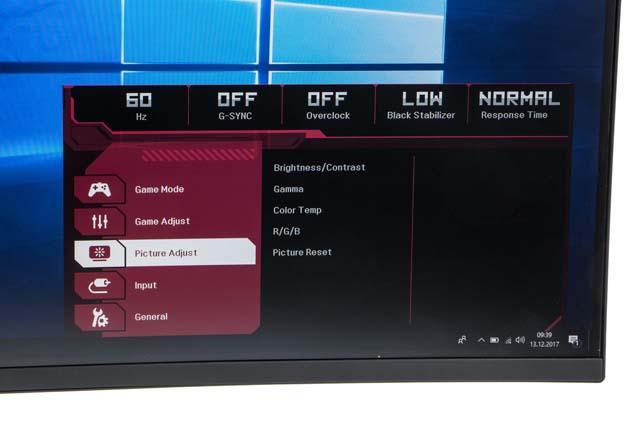 LG 34UC89G-B Curved menu główne