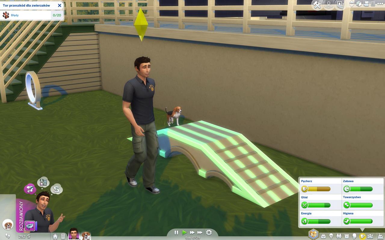 The Sims 4: Psy i koty - nauka na torze przeszkód