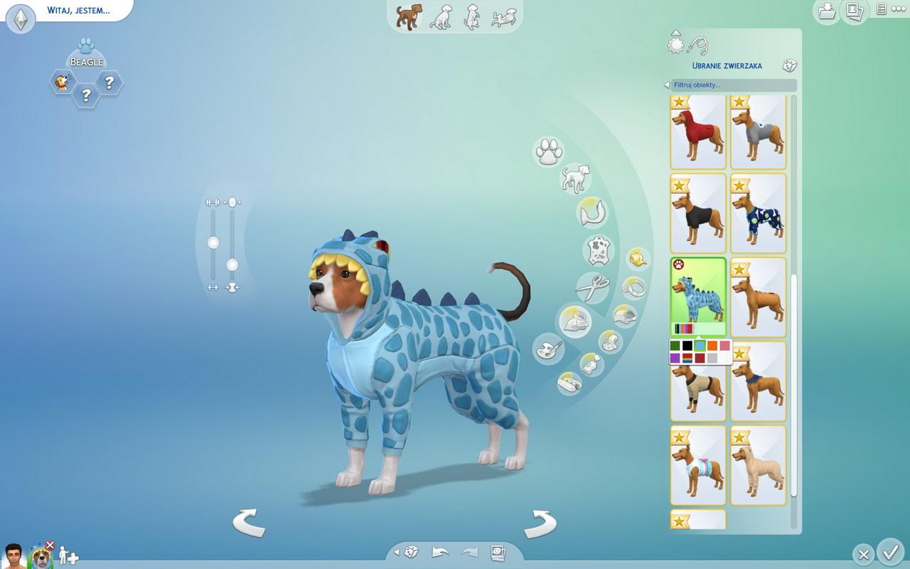 The Sims 4: Psy i koty - pies w ubraniu smoka