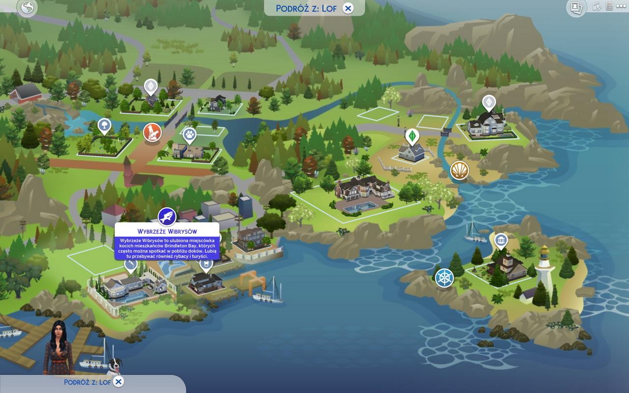 The Sims 4: Psy i koty - mapa miasta