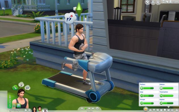 The Sims 4: Psy i koty - kot na rękach podczas ćwiczeń