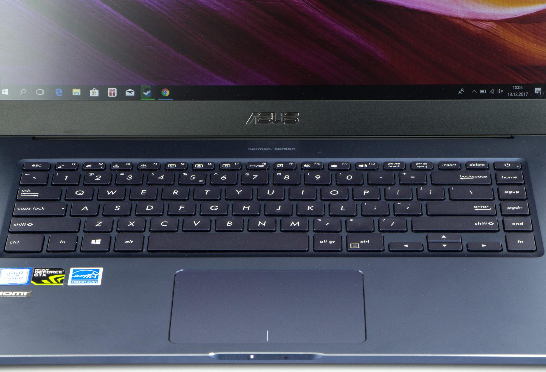 Asus ZenBook Pro UX550VD klawiatura