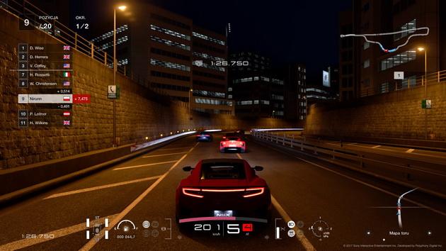 Gran Turismo Sport - wyścig nocnymi ulicami miasta
