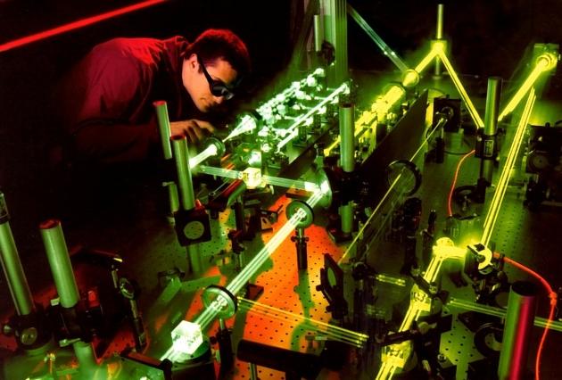laser eksperyment