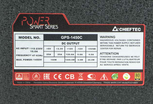 Chieftec Power Smart GPS-1450C