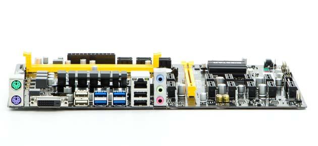 Biostar TB250-BTC PRO - tylny panel