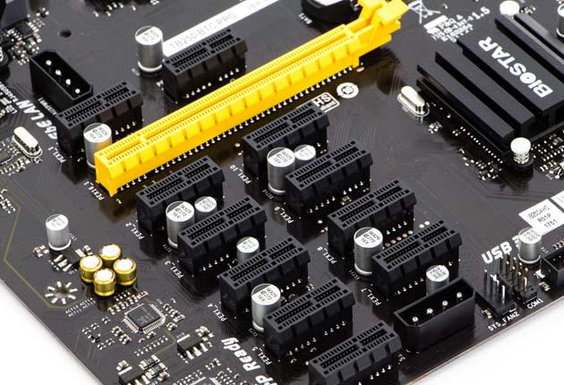 Biostar TB250-BTC PRO - sloty PCIe