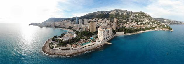 DJI Mavic Air - 180-stopniowa panorama hotelu Monako Bay
