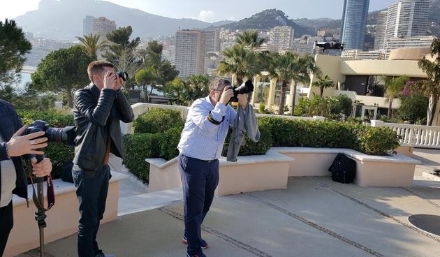 DJI Mavic Air - dziennikarze robią zdjęcia