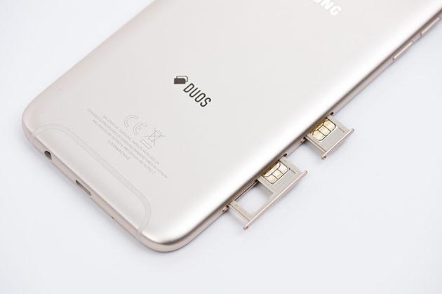 Galaxy J7 2017 Dual SIM - miejsce dla dwóch kart nano SIM