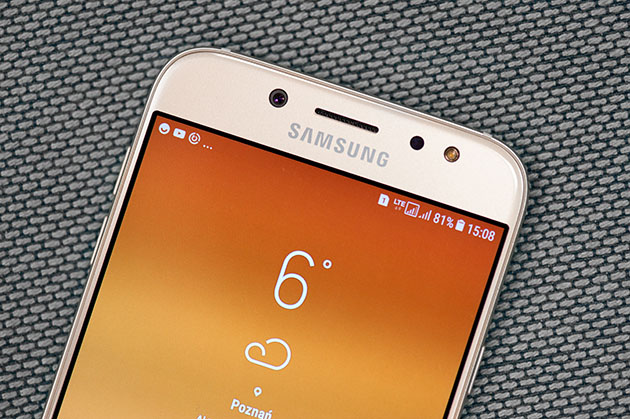 Samsung Galaxy J7 2017 - czarna ramka wokół wyświetlacza