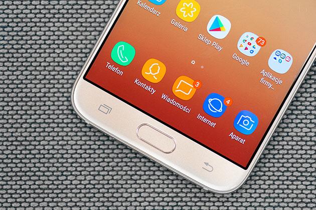 Galaxy J7 2017 Duos - czytnik linii papilarnych