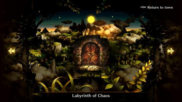 Dragon's Crown Pro - wejście do labiryntu