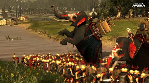 Total War: Arena - słoń staje dęba