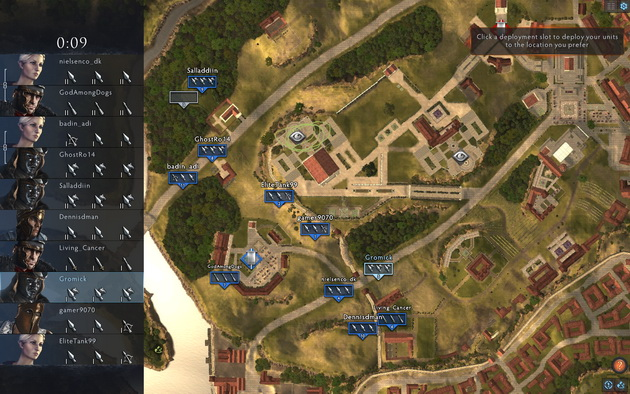 Total War: Arena - rozkładanie armii na mapie przed bitwą