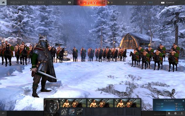 Total War: Arena - ekran tytułowy