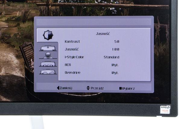 iiyama G-Master G3266HS Gold Phoenix menu OSD