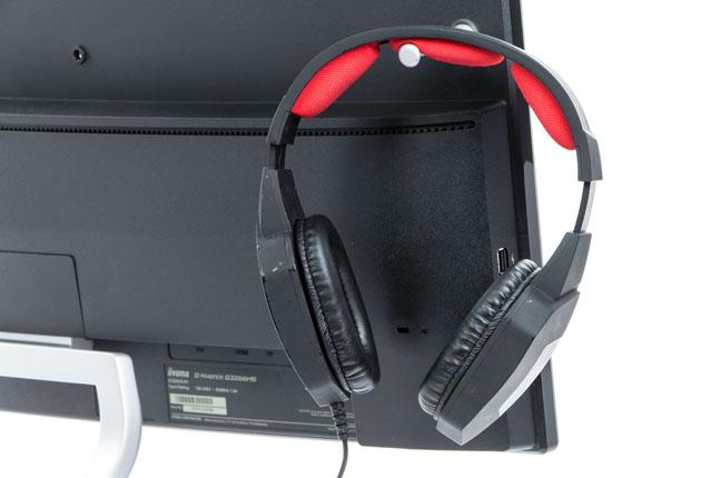 iiyama G-Master G3266HS Gold Phoenix uchwyt na słuchawki