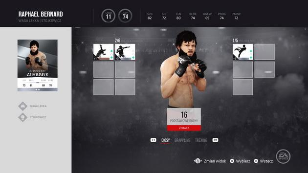 EA Sports UFC 3 - rozwój zawodnika w trybie kariery