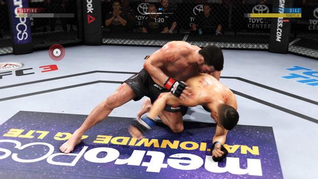 EA Sports UFC 3 - dojście do parteru