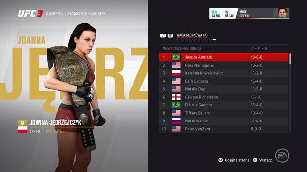 EA Sports UFC 3 - Joanna Jędrzejczak