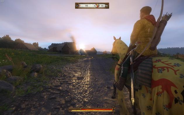 Kingdom Come: Deliverance - dojeżdżając do wioski