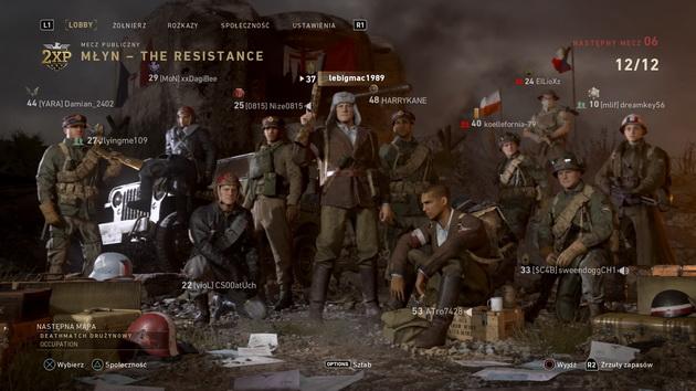 Call of Duty: WWII The Resistance DLC - deathmatch drużynowy