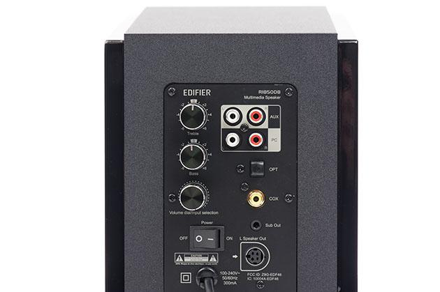 Edifier R1850DB - złącza sygnałowe