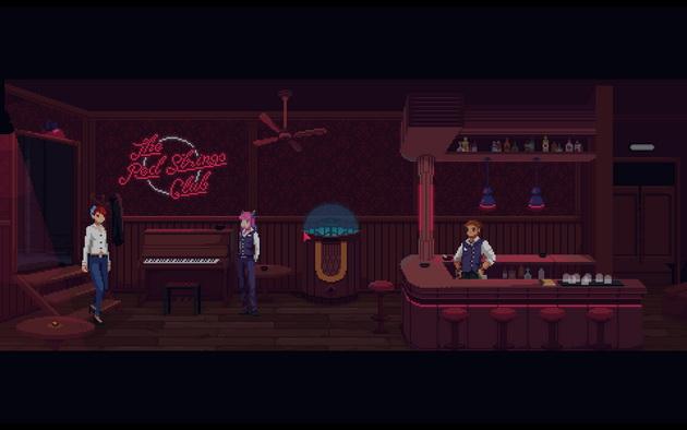 The Red Strings Club - tytułowy bar