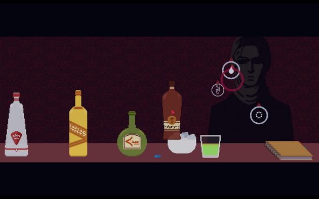 The Red Strings Club - mieszanie drinków jako mini gra