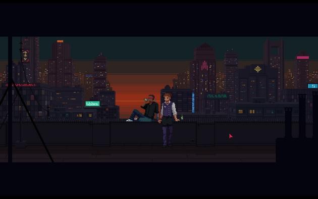 The Red Strings Club - panorama cyberpunkowego miasta
