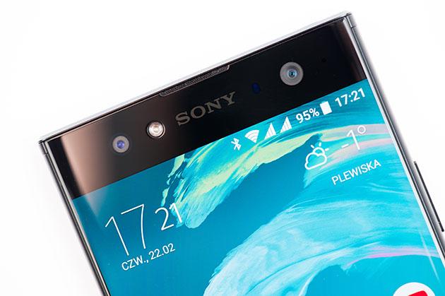 Sony Xperia XA2 Ultra - ramka górna, aparat przedni z diodą