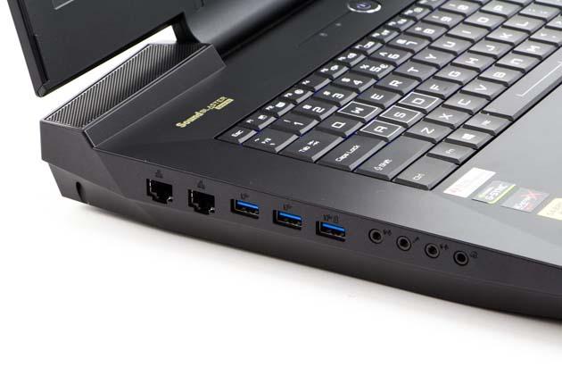 Hyperbook GTR87 VR3 SLI lewy bok