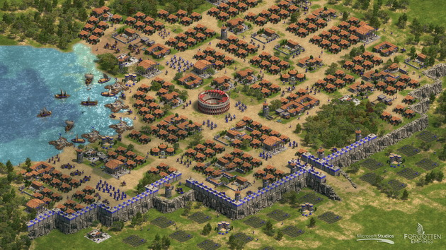 Age of Empires: Definitive Edition - wielkie miasto za murem