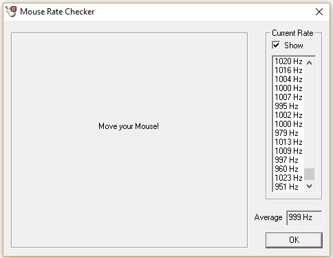 Razer Naga Trinity - test mouse rate checker