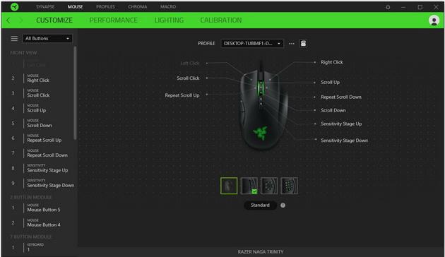 Razer Naga Trinity - programowanie przycisków