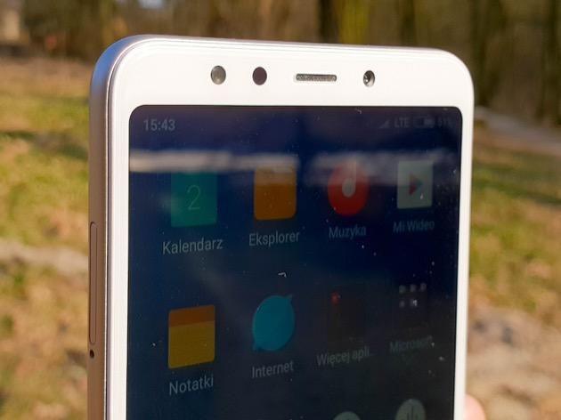 Xiaomi Redmi 5 przedni aparat