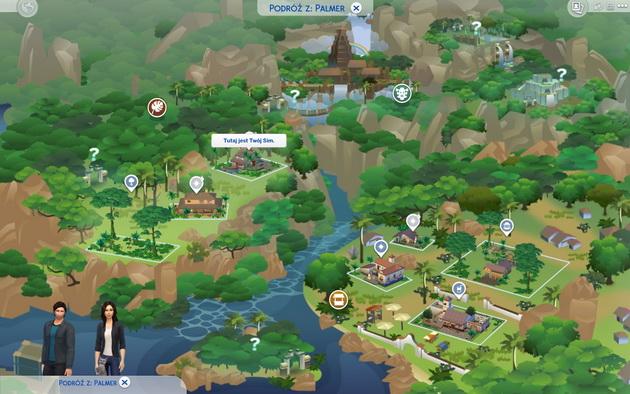 The Sims 4: Przygoda w dżungli - mapa nowej lokacji