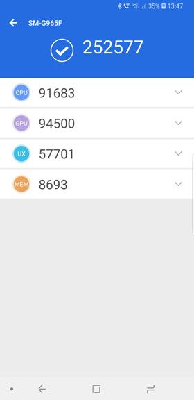 Samsung Galaxy S9 Plus Exynos 9810 Antutu 7