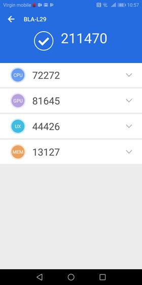 Huawei Mate 10 Pro Kirin 970 Antutu 7