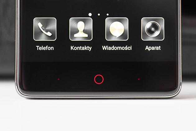 Nubia Z17 Lite - podświetlane przyciski