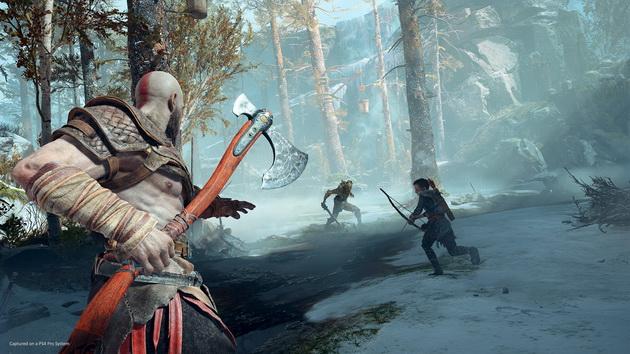 God of War - Kratos z Lewiatanem w ręku