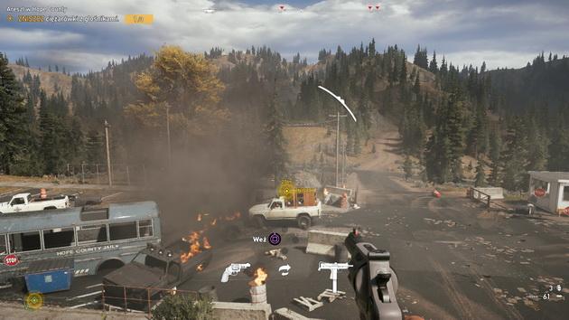 Far Cry 5 - niszczenie ciężarówek z głośnikami